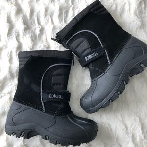Toddler Boys Totes Black Travis Winter Snow Boots